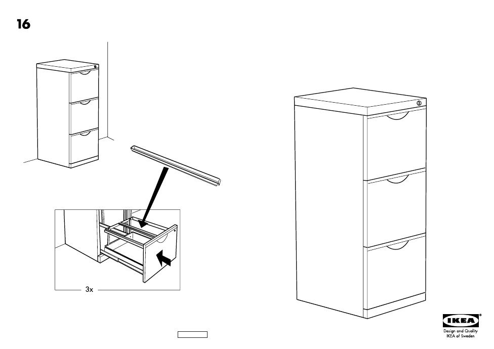 Ikea Erik File Cabinet 16 18x41 Assembly Instruction Free Pdf