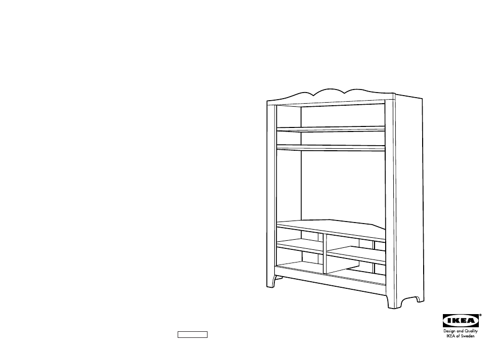 ikea hensvik corner tv storage unit 43x63 assembly instruction free pdf download 14 pages. Black Bedroom Furniture Sets. Home Design Ideas