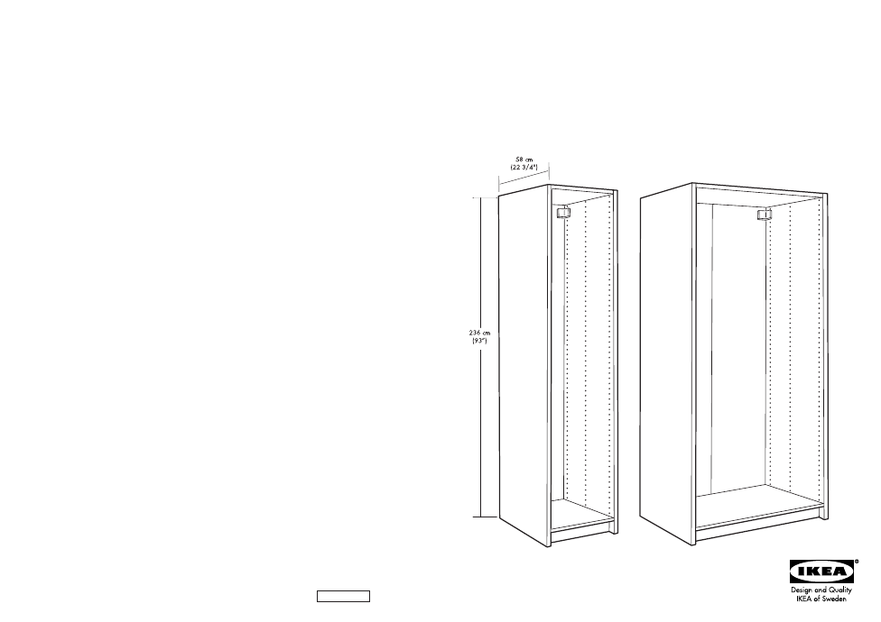 ikea pax wardrobe frame 39x23x93 assembly instruction free pdf rh manualagent com pax ikea manuel ikea pax lyngdal manual