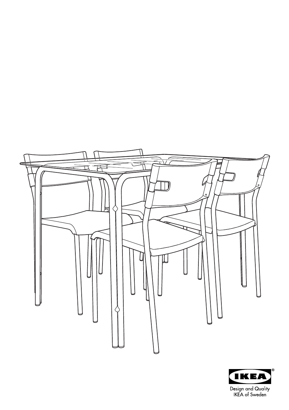 Ikea Lavar Table W 4 Chairs Assembly Instruction Free