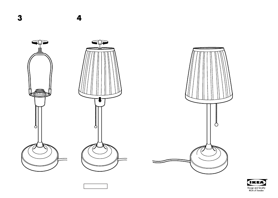 Ikea 195 Rstid Table Lamp Assembly Instruction Free Pdf