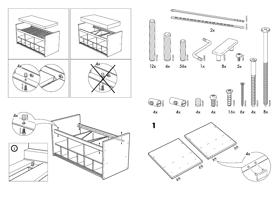 ikea bangsund bed twin assembly instruction page 3 free pdf download 10 pages. Black Bedroom Furniture Sets. Home Design Ideas