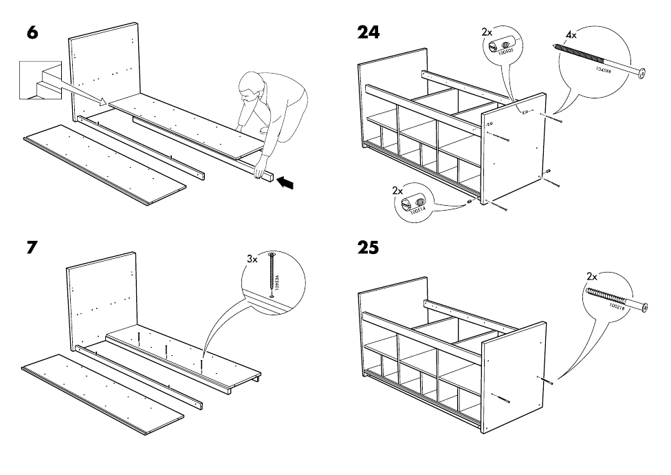 Ikea Bangsund Bed Twin Assembly Instruction Page 6