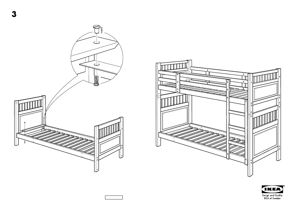 Ikea Hemnes Bunk Bedframe Twin Assembly Instruction Free Pdf