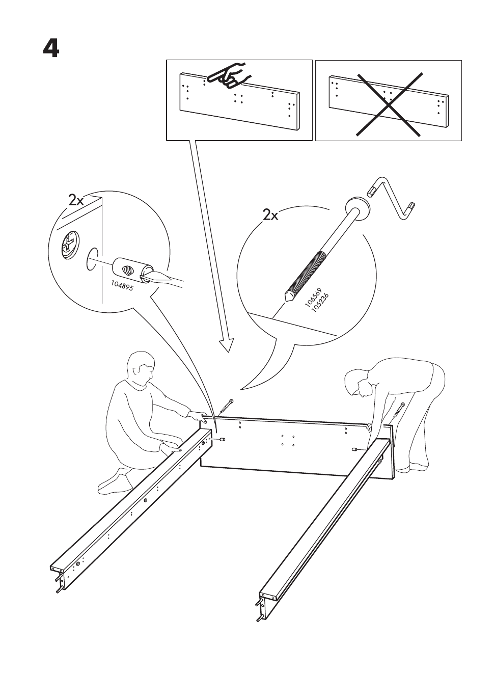 Ikea Hopen Bed Frame King Assembly Instruction Page 5