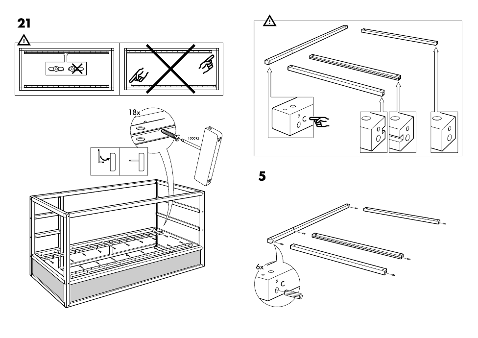Ikea Kura Reversible Bed 38x75 Assembly Instruction Page 7 Free