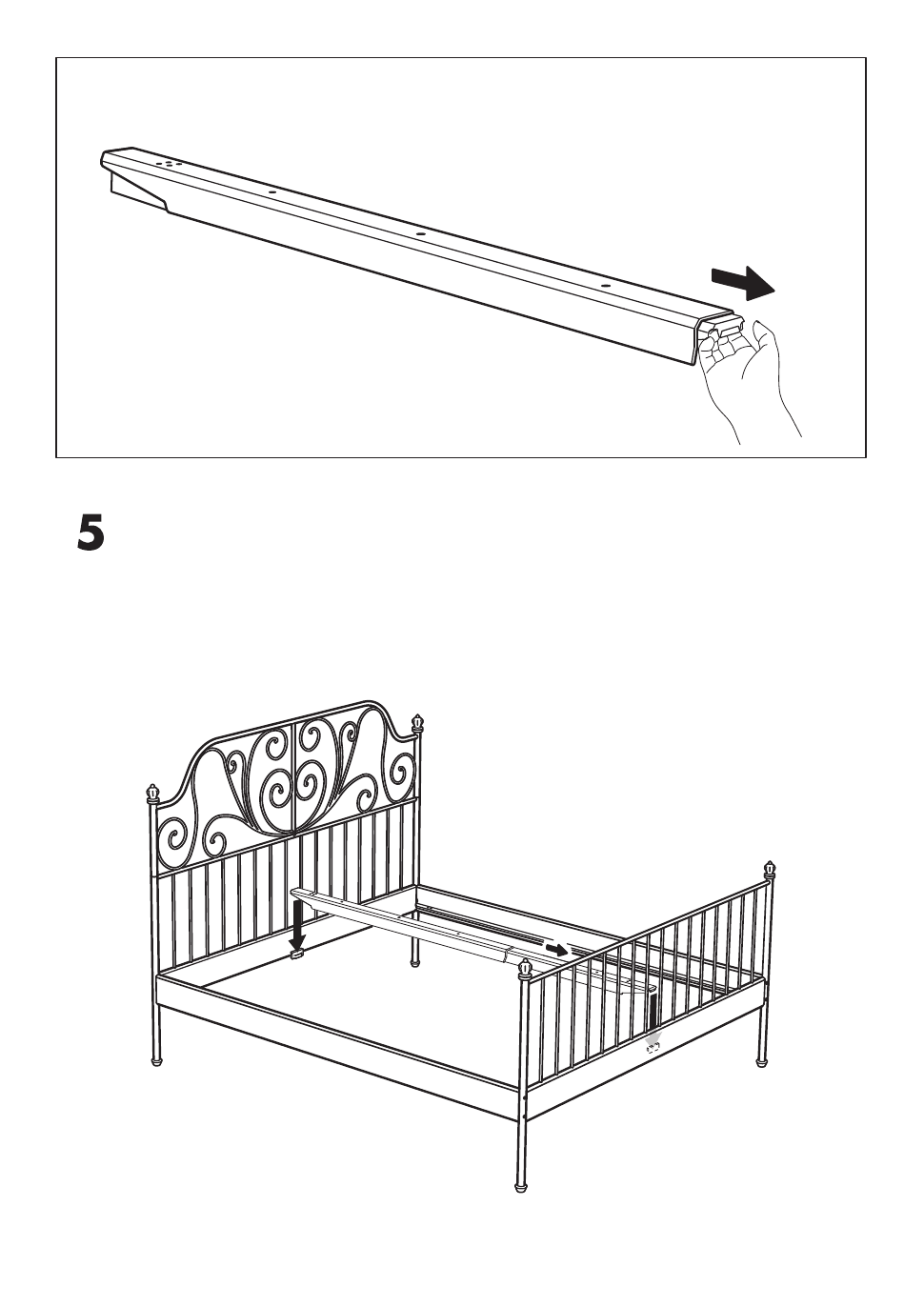 ikea leirvik bed frame full queen king assembly instruction page 7 free pdf download 8. Black Bedroom Furniture Sets. Home Design Ideas