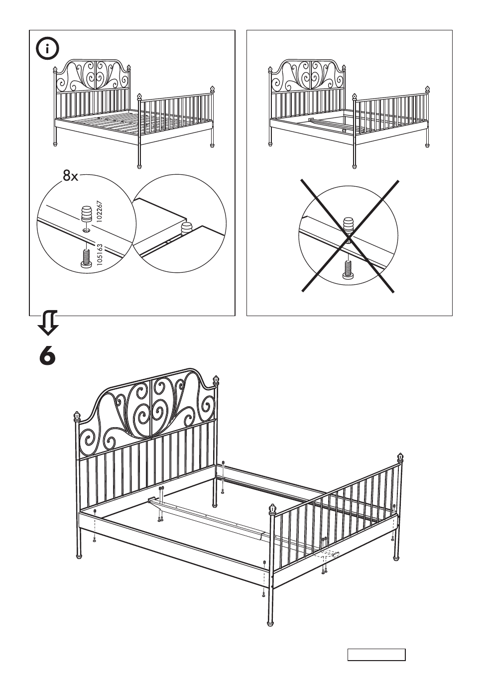 IKEA LEIRVIK BED FRAME FULL, QUEEN & KING Assembly Instruction ...
