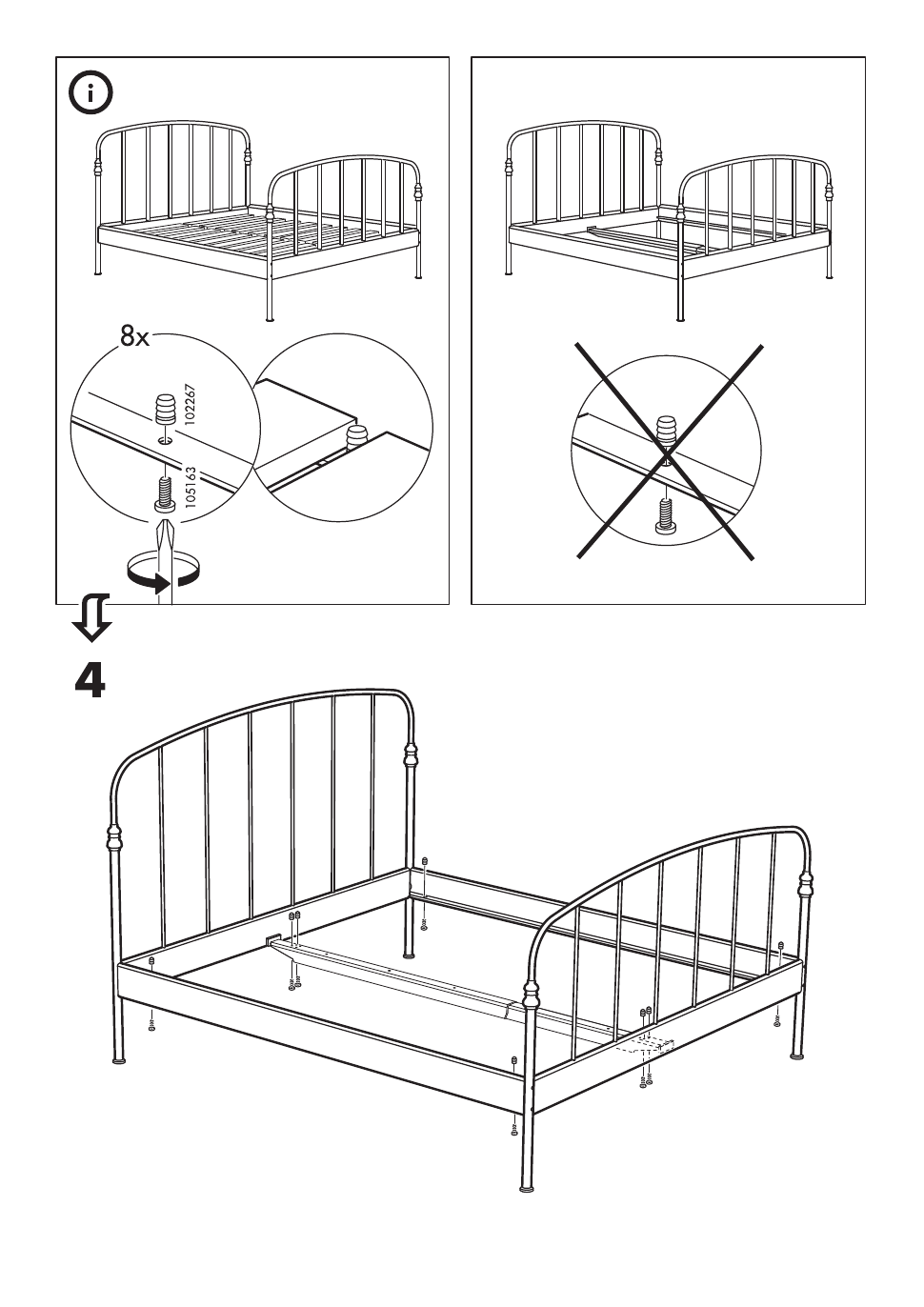ikea lillesand bed frame full queen king assembly instruction page 7 free pdf download 8. Black Bedroom Furniture Sets. Home Design Ideas