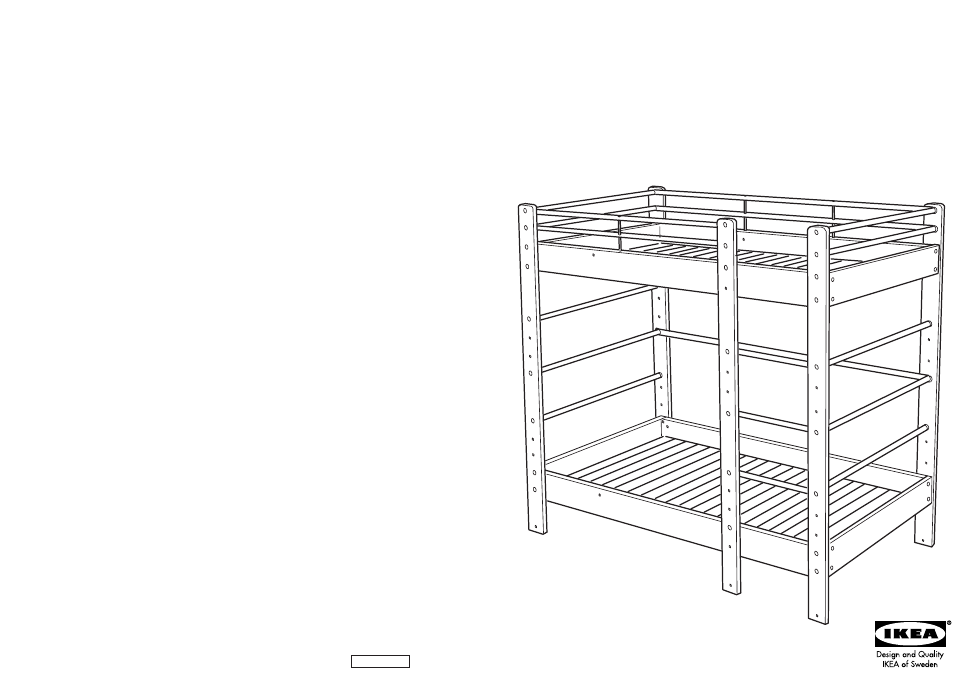 Ikea Lo Bunk Bed Frame Twin Assembly Instruction Free