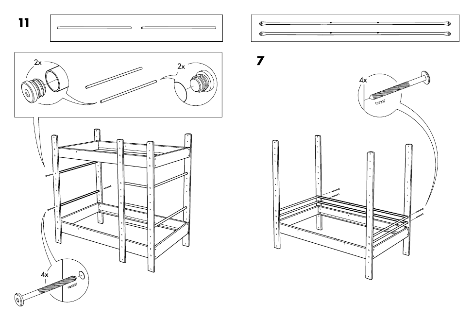 Ikea Lo Bunk Bed Frame Twin Assembly Instruction Page 13