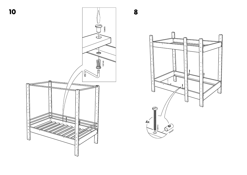 Ikea Lo Bunk Bed Frame Twin Assembly Instruction Page 16