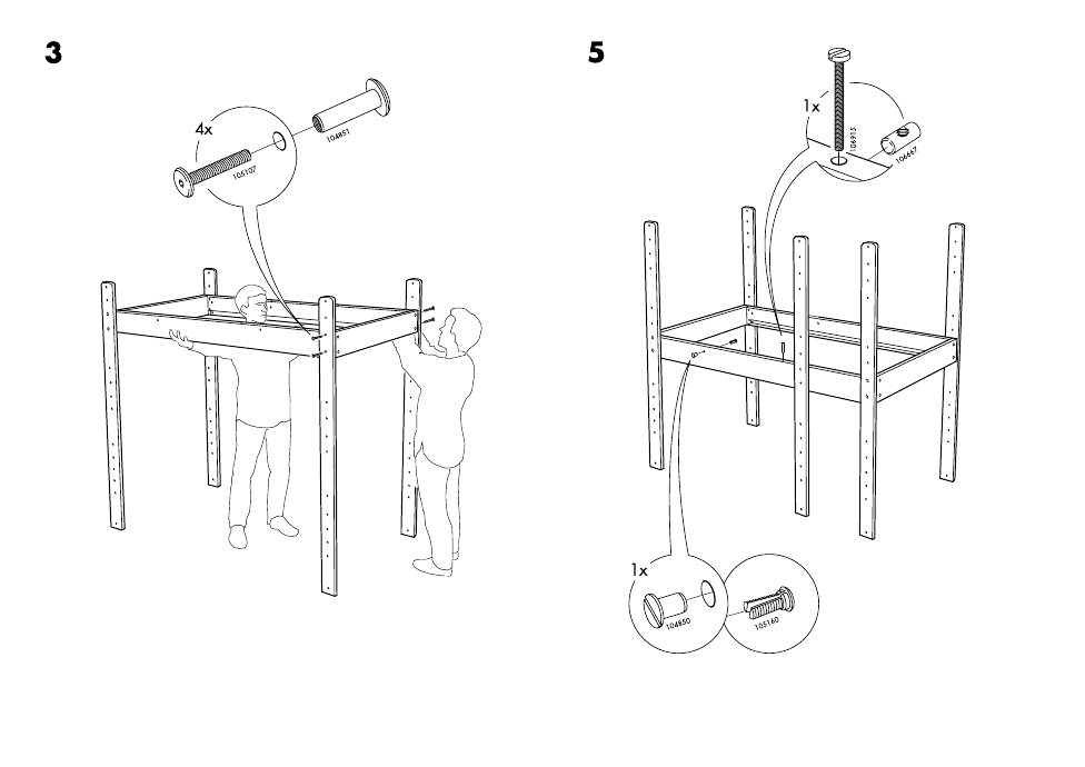 Ikea Lo Bunk Bed Frame Twin Assembly Instruction Page 21