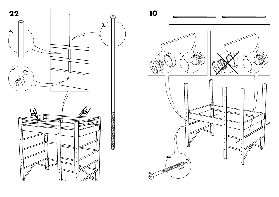 Ikea Lo Bunk Bed Frame Twin Assembly Instruction Page 25