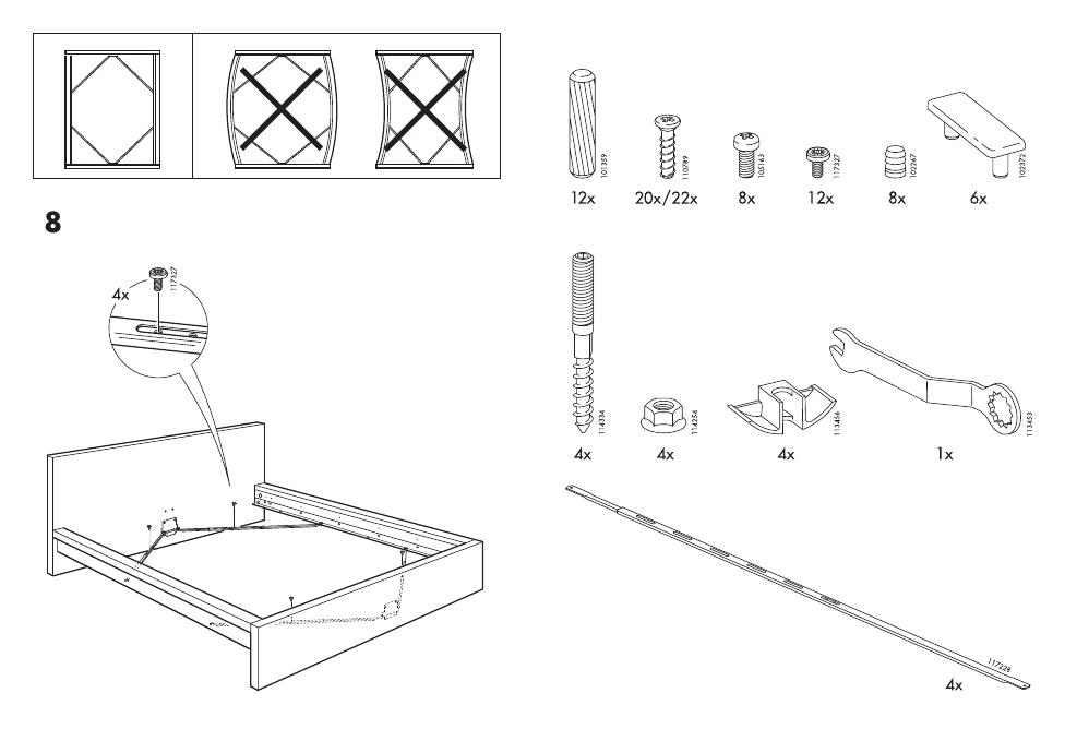 Ikea Malm Bed Frame Fulldouble Assembly Instruction Page 3 Free