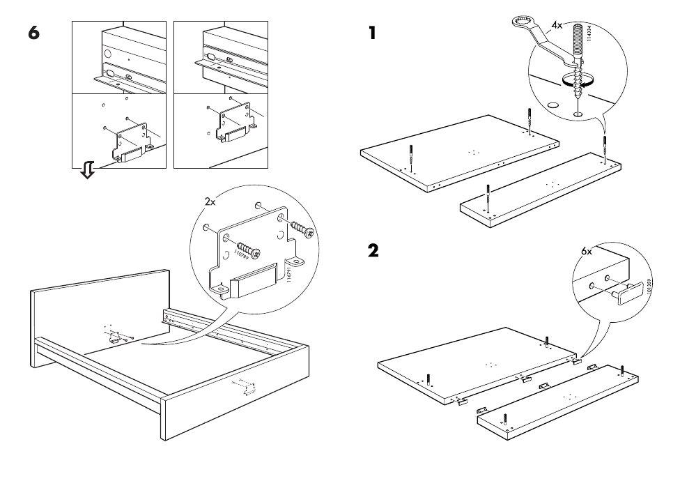Ikea Malm Bed Frame King Assembly Instruction Page 5 Free Pdf