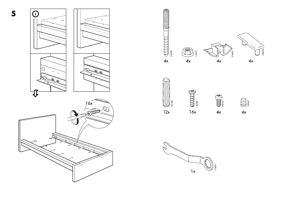 Ikea Malm Bed Frame Twin Assembly Instruction Page 3 Free Pdf