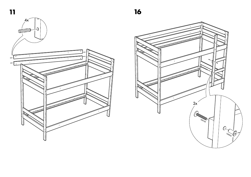 ikea mydal bunk bed frame twin assembly instruction page 12 free pdf download 14 pages. Black Bedroom Furniture Sets. Home Design Ideas