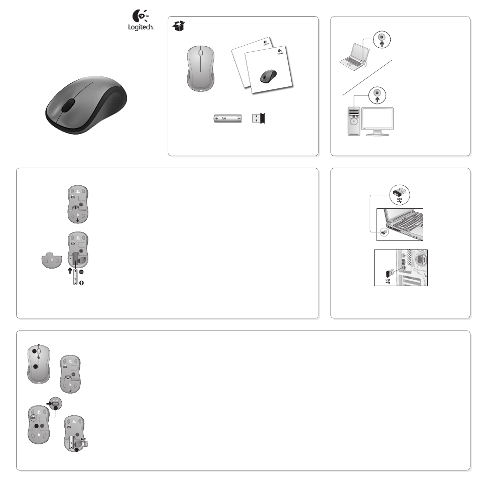 Logitech M310 User's Manual - Free PDF Download (2 Pages)