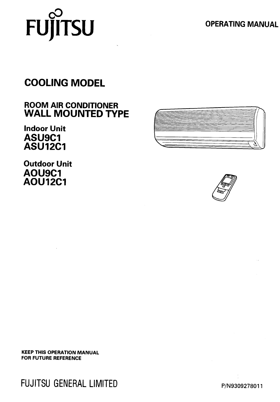 fujitsu asu9c1 asu12c1 aou9c1 aou12c1 user s manual free pdf rh manualagent com fujitsu air conditioner manual r410a fujitsu service manual air conditioner