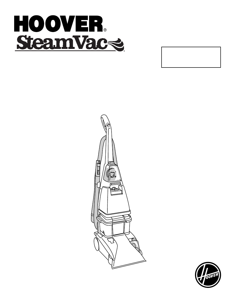 Hoover Steamvac F Users Manual
