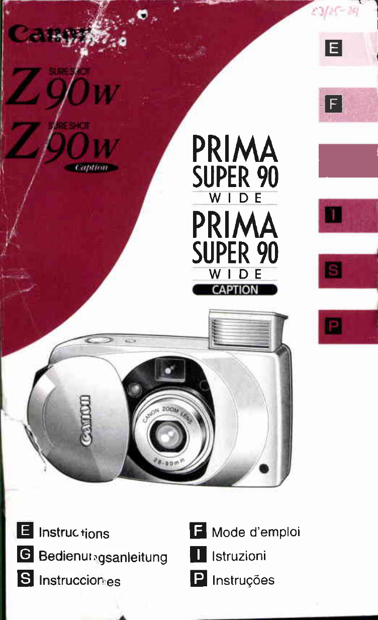 Canon Sure Shot Z90W User's Manual - Free PDF Download (59 Pages)