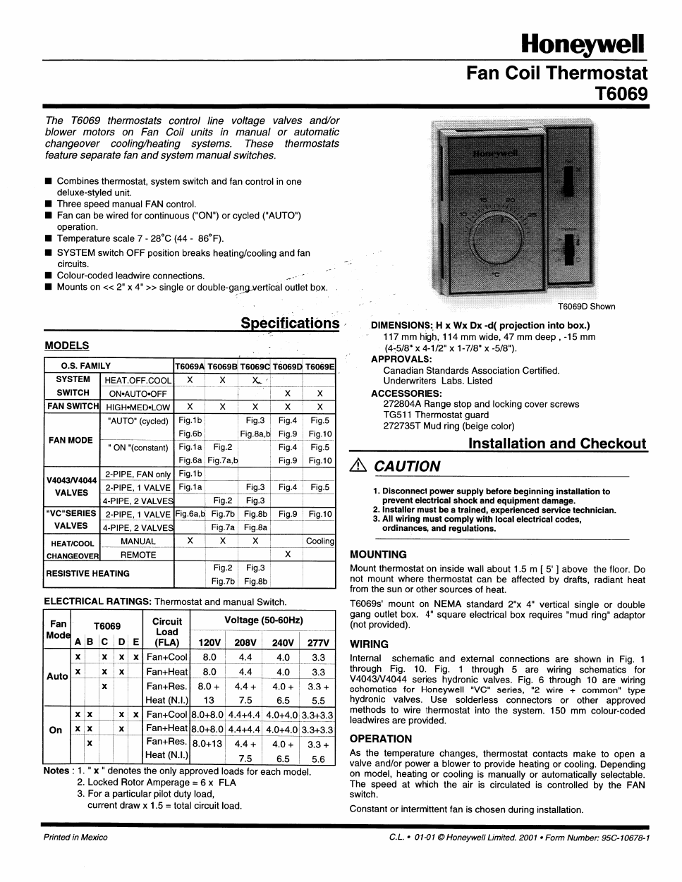 Honeywell Thermostat T6069 Users Manual Free Pdf Wiring Background Image