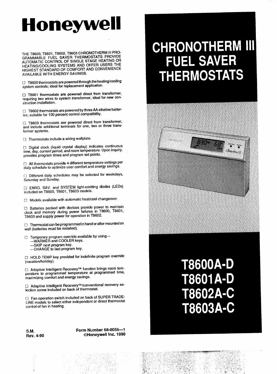 Trane thermostats Tcont802as32da Instruction manual on