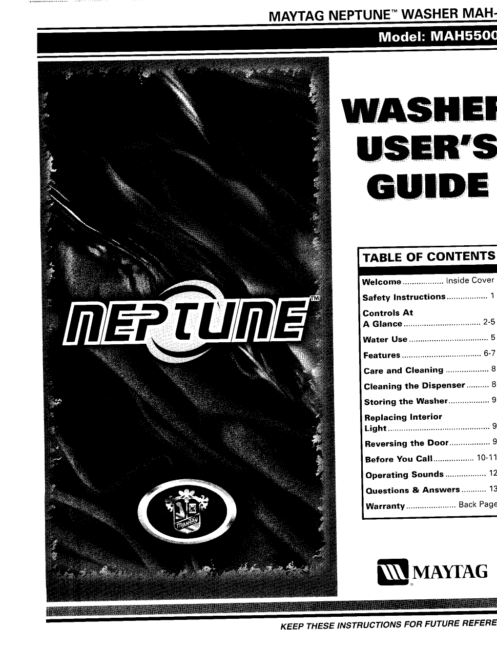 maytag neptune mah550 user s manual free pdf download 17 pages rh manualagent com maytag neptune front load washer user guide maytag neptune user manual pdf