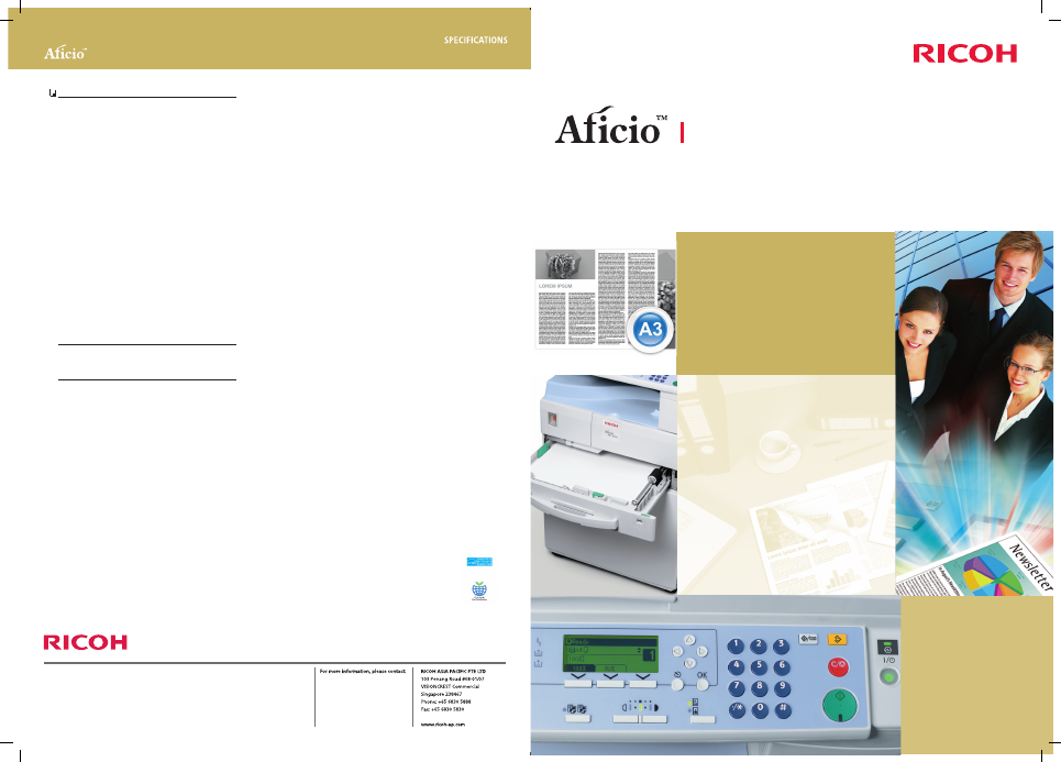 Ricoh MP 1900 User's Manual - Free PDF Download (2 Pages)