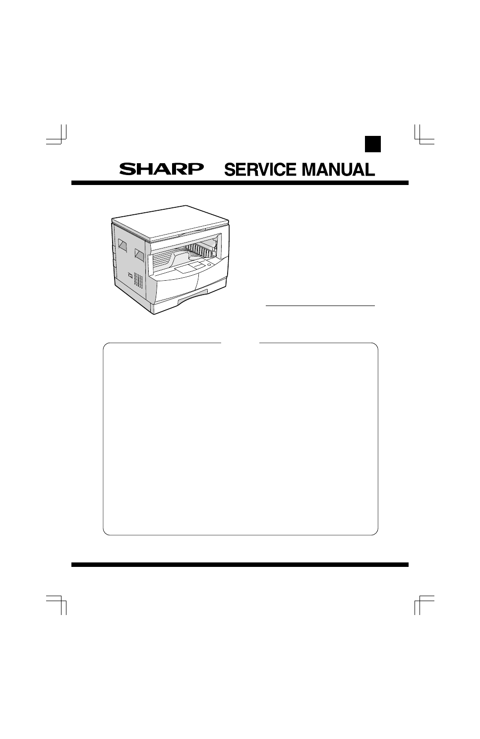 Sharp Sharp Copier Ar-161 User U0026 39 S Manual