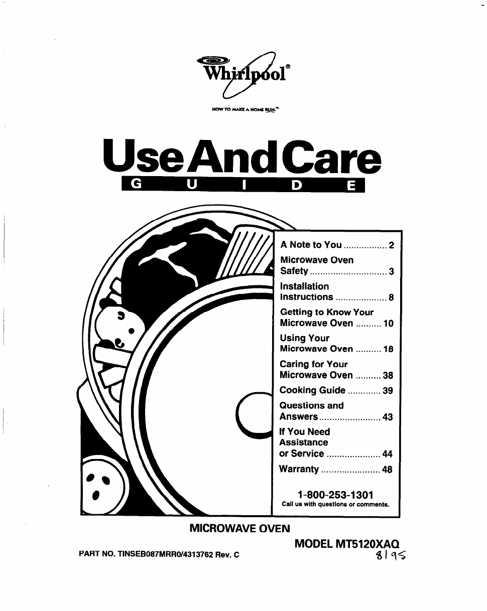 Whirlpool Mt5120xaq Users Manual Free Pdf Download 47 Pages Oven Wiring Diagram Get Image About Background