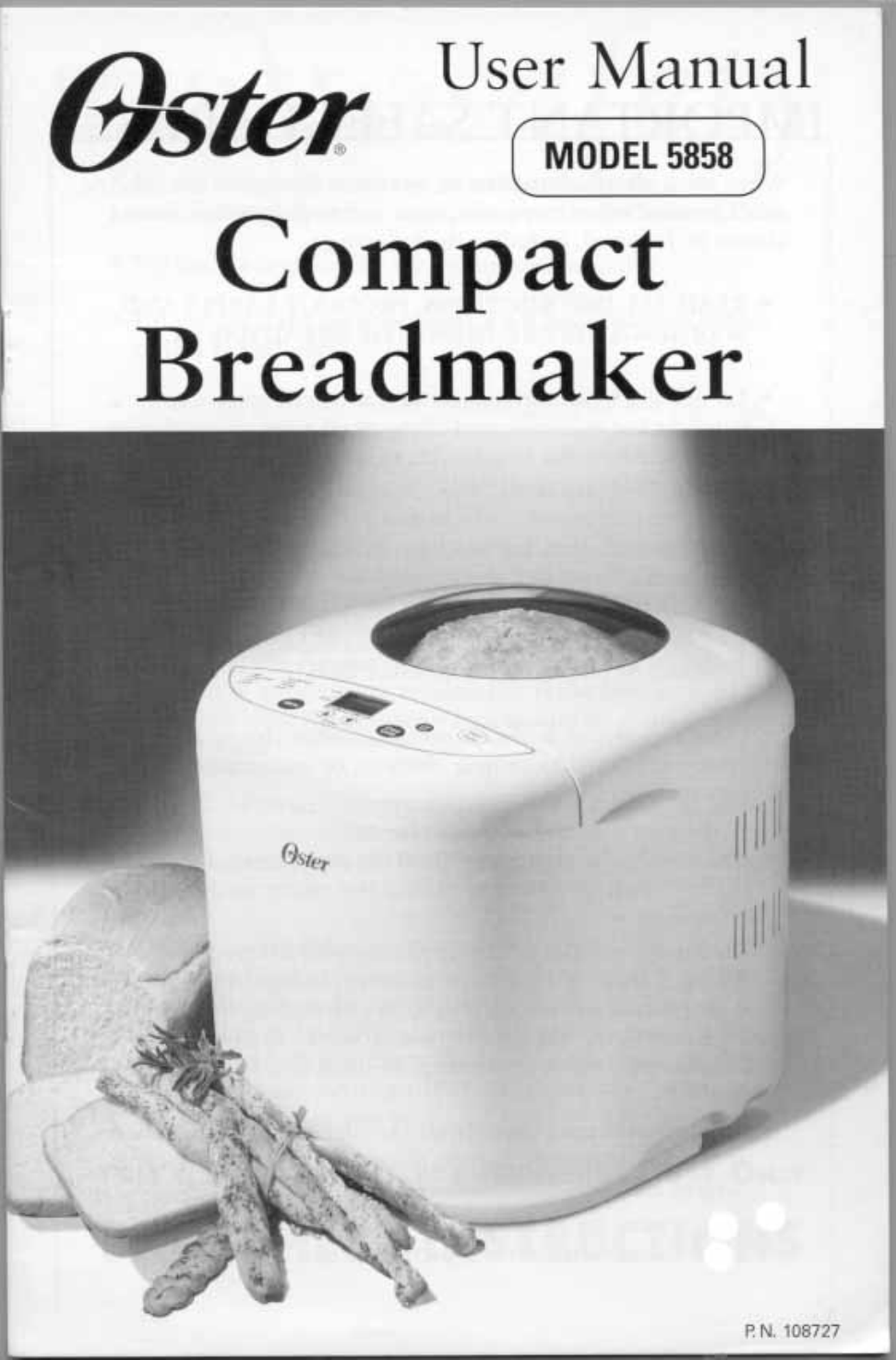 oster 5858 user s manual free pdf download 24 pages rh manualagent com oster breadmaker 5838 user manual Oster Food Processor Manual