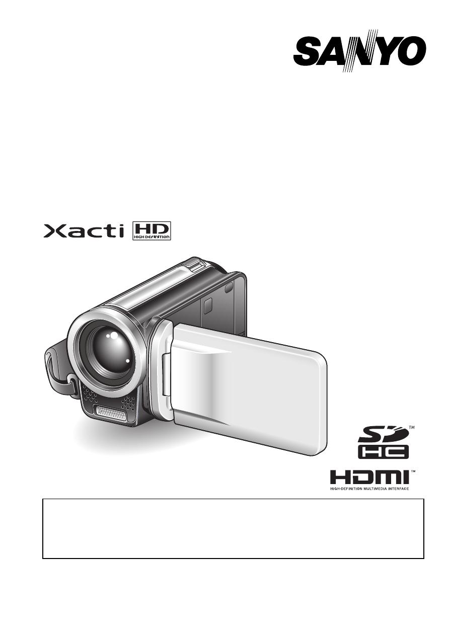 sanyo xacti vpc th1 user s manual free pdf download 202 pages rh manualagent com Sanyo Xacti CG10 Manual Sanyo Xacti Dual Camera Manual