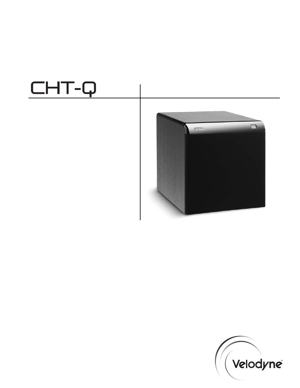 velodyne acoustics velodyne cht 12q user s manual free pdf rh manualagent com