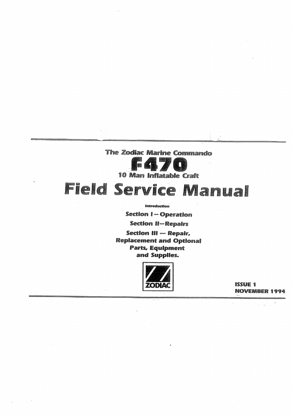 ... Array - zodiac boat f470 user u0027s manual free pdf download 65 pages  rh manualagent com