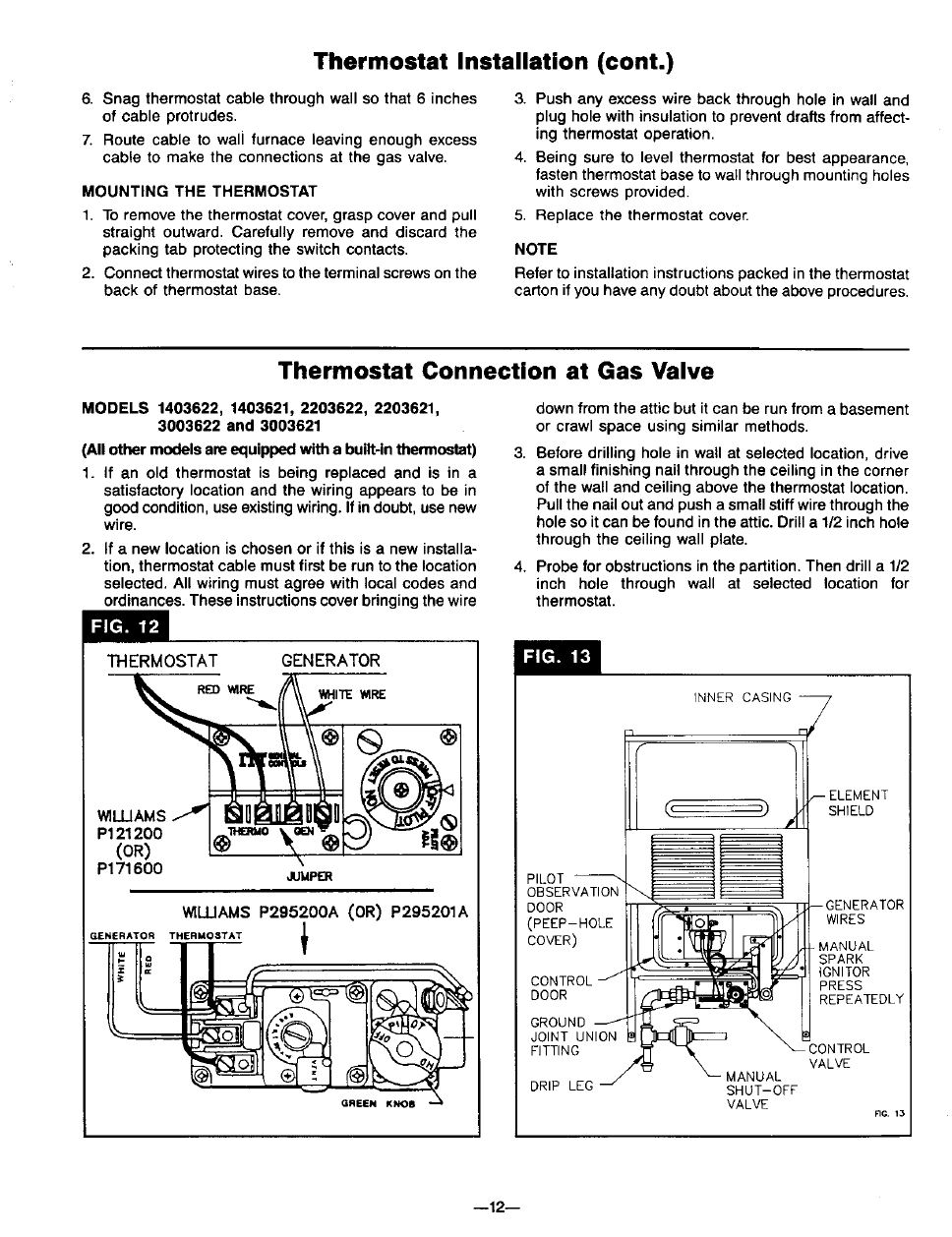 Coleman Thermostat Wiring Diagram Wall Schematic Diagrams Williams Furnace Model 2509621 Car Intellitec