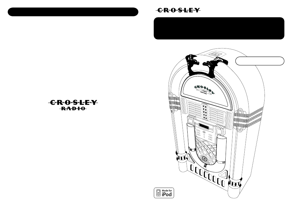 Crosley Radio Full Size Jukebox CR12-10 User's Manual - Free