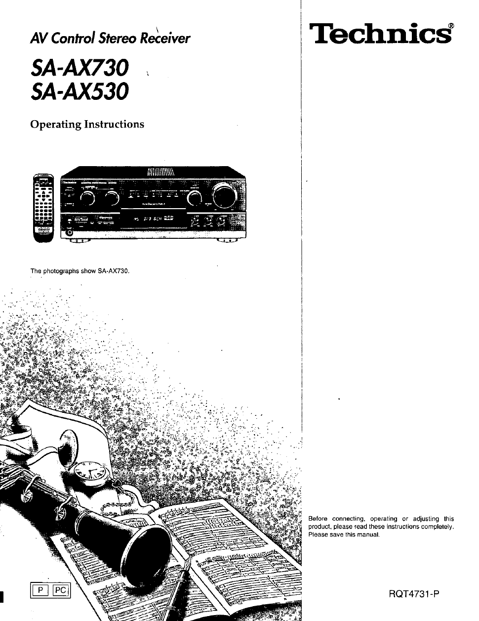 Technics SA-AX530 Owner's Manual - Free PDF Download (40 Pages)