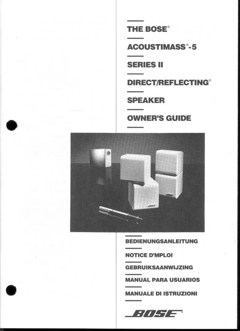 bose acoustimass 5 series ii system owner s manual free pdf rh manualagent com Bose Acoustimass Speaker Setup bose acoustimass 5 owners manual