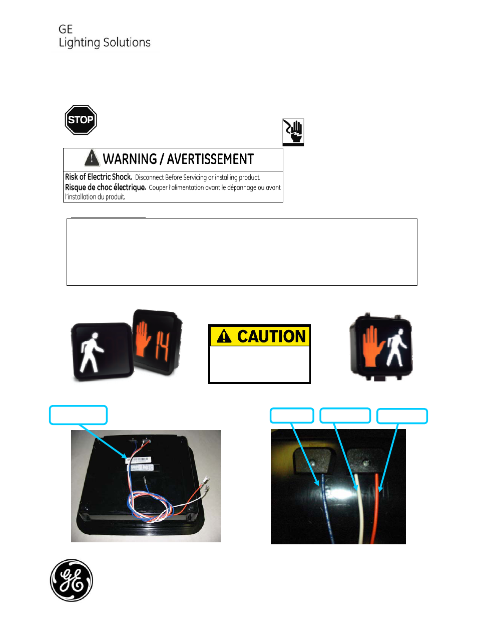 GE Pedestrian Signals Installation Guide - Free PDF Download (1 Pages)