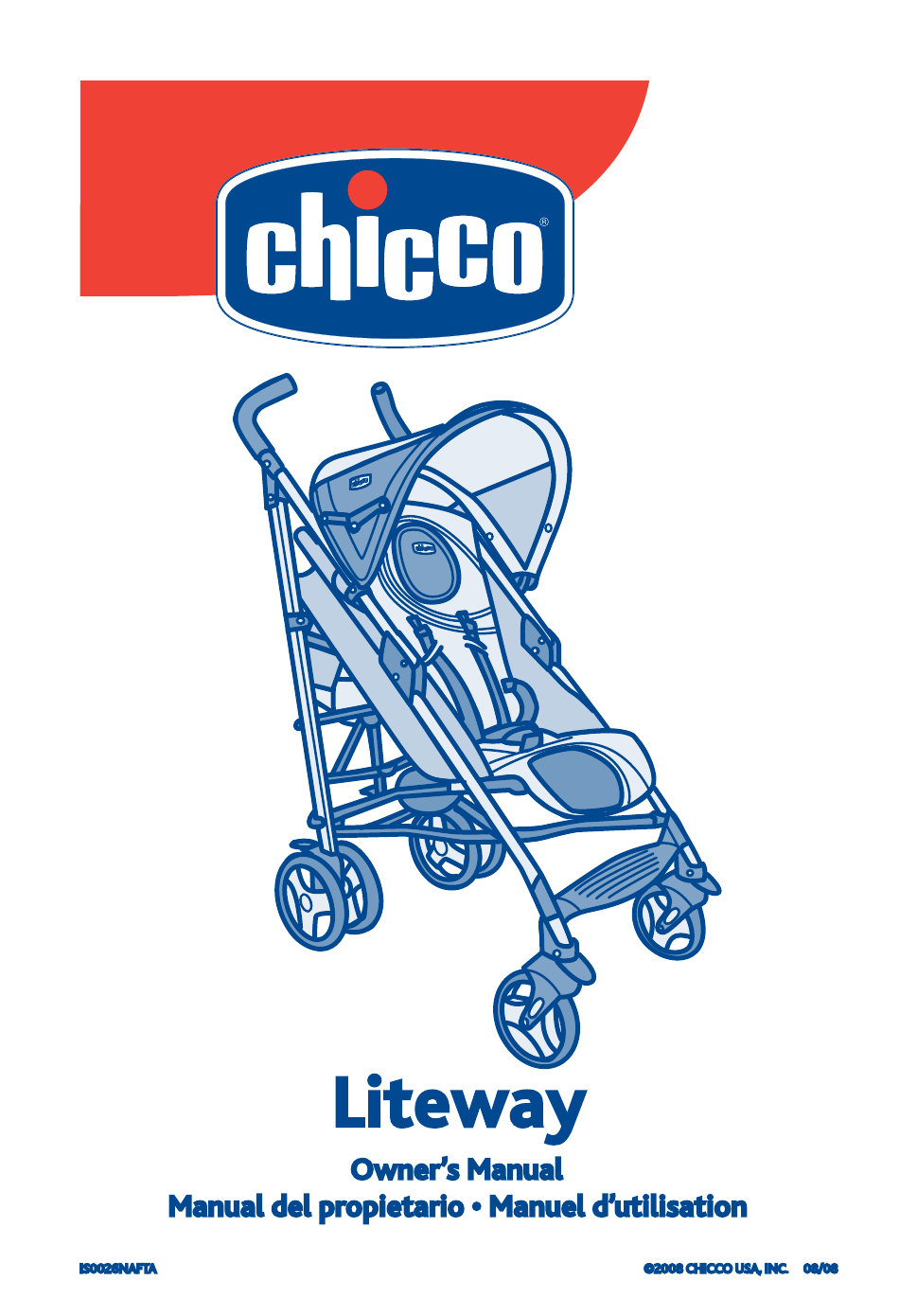chicco liteway stroller owner s manual free pdf download 21 pages rh manualagent com Chicco Baby Chicco NextFit