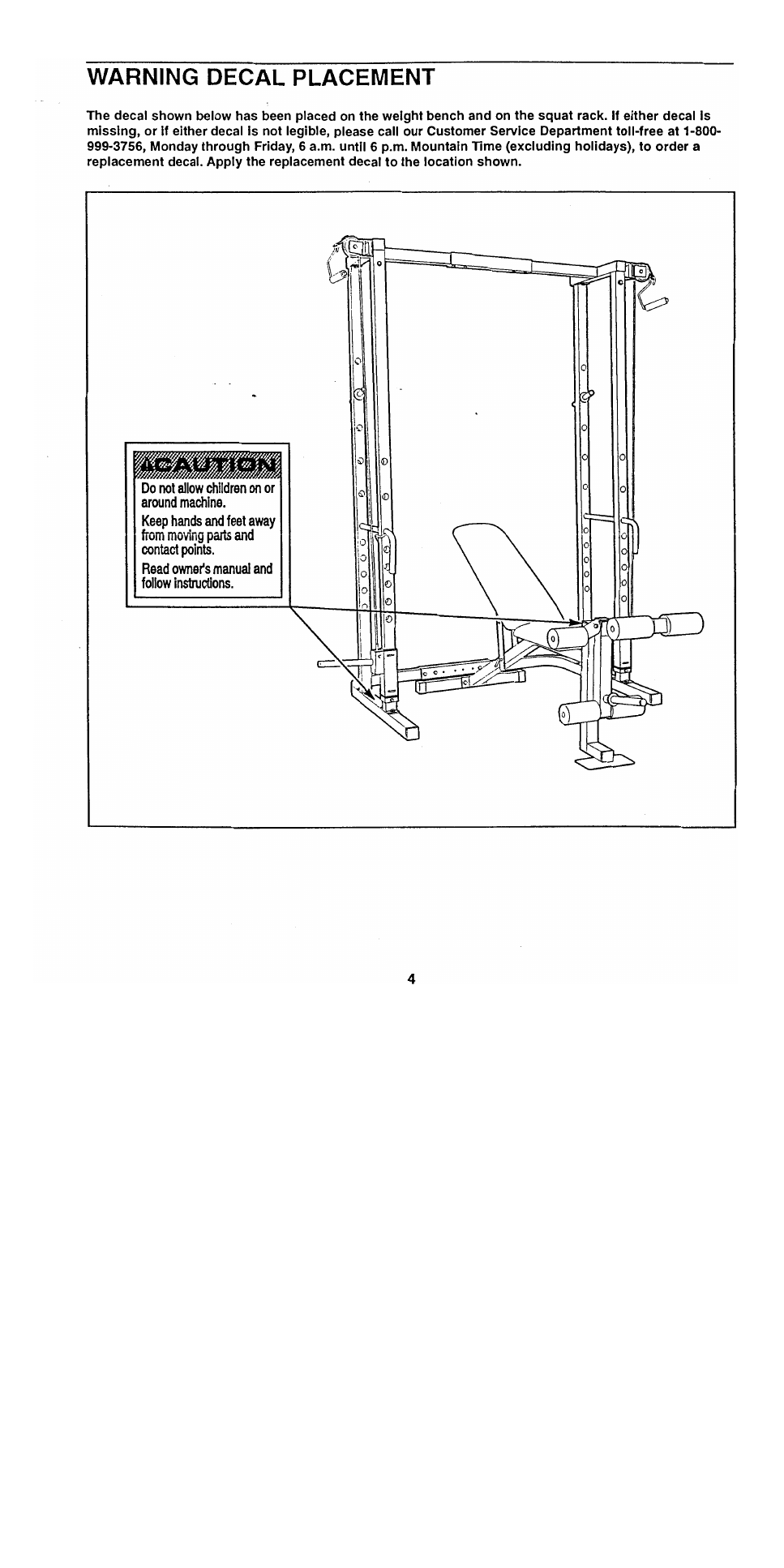 ... Array - weider pro 545 bench webe5457 user u0027s manual page 4 free pdf  rh manualagent