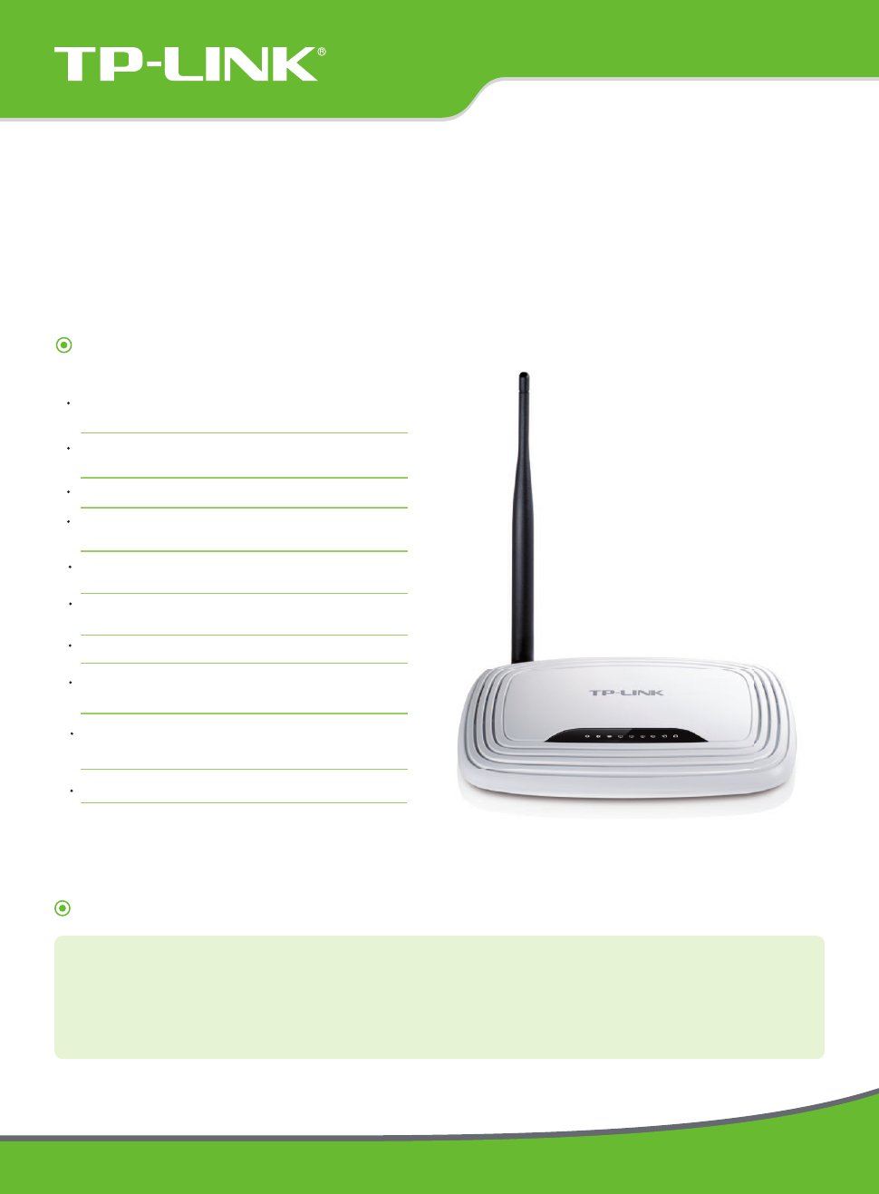 TP-Link TL-WR740N V5 Data Sheet - Free PDF Download (2 Pages)
