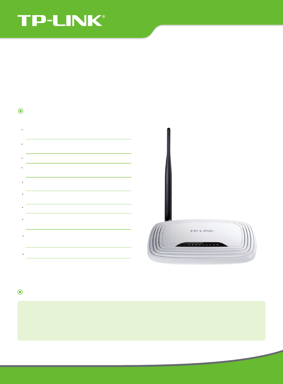 TP-Link TL-WR741ND V5 Data Sheet - Free PDF Download (2 Pages)
