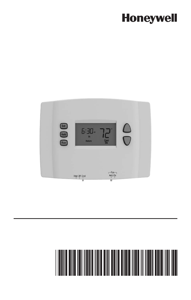 honeywell rth221 quick installation guide online pdf free download rh manualagent com Honeywell Thermostat 2000 Honeywell RTH3100C