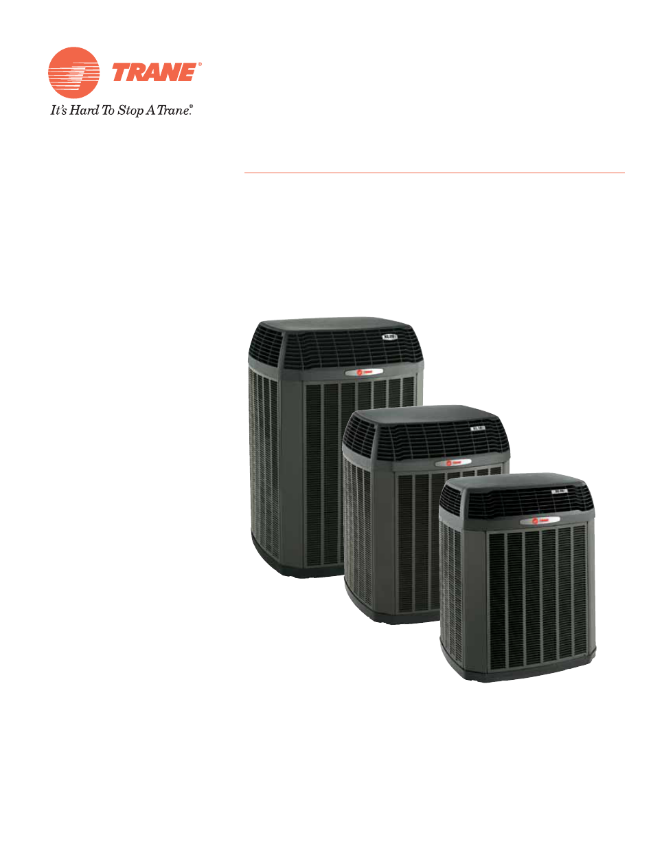 Trane Xl 19 Owners Manual