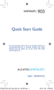 Alcatel OneTouch ONE TOUCH 903/903D Quick Start Manual - 1