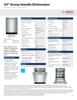 Bosch SHS63VL5UC Specification Sheet - 1