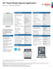 Bosch SGV68U53UC Specification Sheet - 1